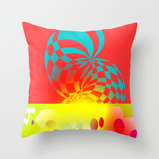 Twisted Invert Throw Pillow
