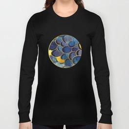 Abstract deep blue Long Sleeve T-shirt