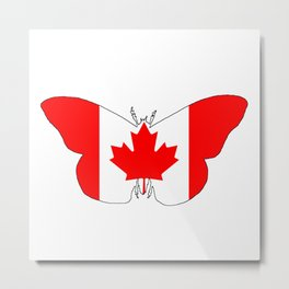 Canada Butterfly Metal Print