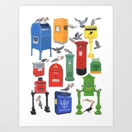 Mailboxes Around the World Art Print