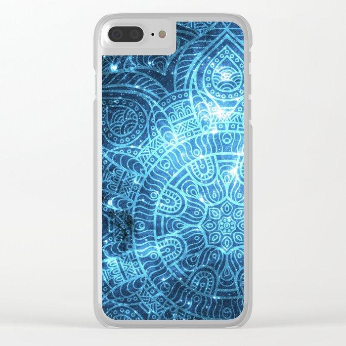 Space mandala 8 Clear iPhone Case