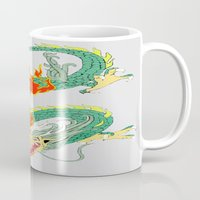 chinese Mugs featuring Chinese Dragon by J&C Creations