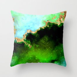 100 Starry Nebulas in Space 106 (Portrait) Throw Pillow