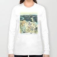 cycling Long Sleeve T-shirts featuring Cycling in the Deep by Dushan Milic