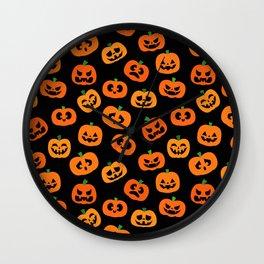 Jack-o'-Lanterns Wall Clock
