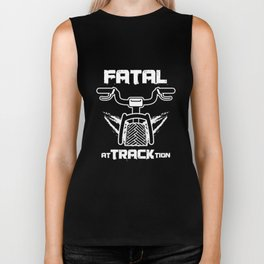 Awesome Cycling Cyclist Puns Fatal At Track Tion Biker Tank