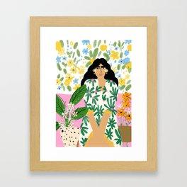 Floral fever Framed Art Print