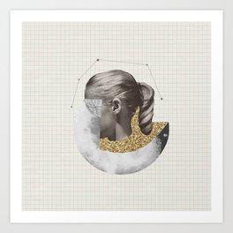 Constellation Girl Art Print
