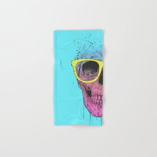 Pop art skull with glasses Hand & Bath Towel