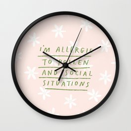 Allergic To Pollen Wall Clock