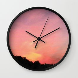 Sunset On Fire Wall Clock