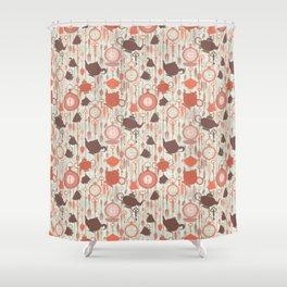Vintage Tea Time Shower Curtain