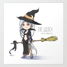 The Witch - The Cute Halloween Day Art Print