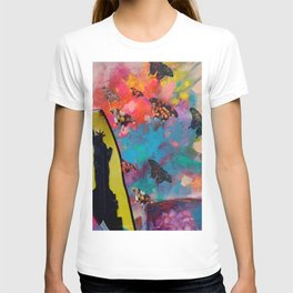 Lady Liberty Butterfly Explosion T-shirt