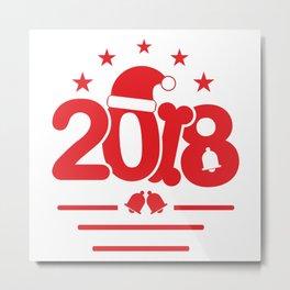 Happy New Year 2018  #society6 #printart #decor #buyart Metal Print