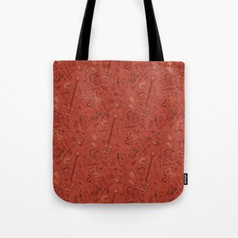 Inventory in Red Tote Bag