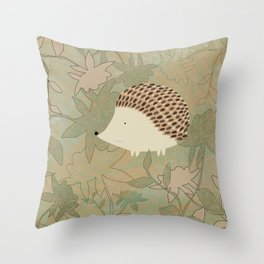 Hedgehog Happiness Throw Pillow