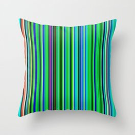 Colorful Barcode Throw Pillow