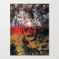 fear Canvas Prints featuring FEAR by sametsevincer