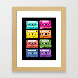 mixtapes Framed Art Print