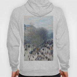 1874-Claude Monet-Boulevard des Capucines- 60 x 80 Hoody