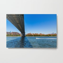 Manhattan - View from the east river - New York Metal Print