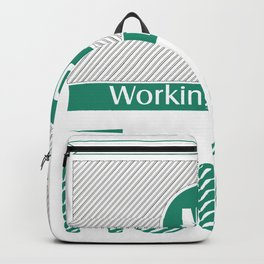 No Working During Texas Hold'em Backpack