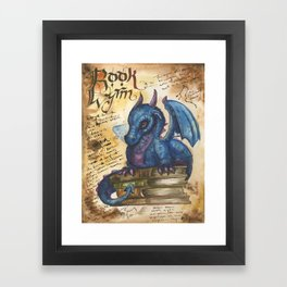 Book Wyrm from the Field Guide to Dragons Framed Art Print