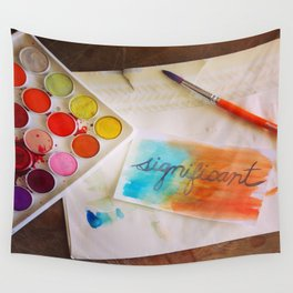 significant watercolor print photo Wall Tapestry