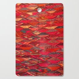 V35 Red Traditional Moroccan Artwork Pattern Cutting Board