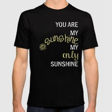 YOU ARE MY SUNSHINE MEDIUM Black Mens Fitted Tee