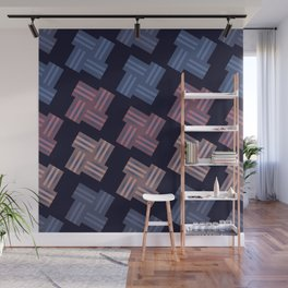 Seamless Colorful Pattern from Rectangle Intersections Wall Mural