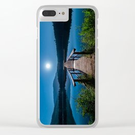 Bright Night Sky at British Columbia Clear iPhone Case