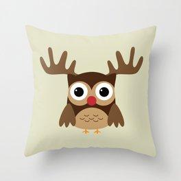 Reindeer Owl Throw Pillow