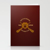 quidditch Stationery Cards featuring Gryffindor quidditch team iPhone 4 4s 5 5c, ipod, ipad, pillow case, tshirt and mugs by Three Second