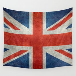Union Jack flag, grungy retro 1:2 scale Wall Tapestry
