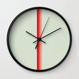 Arimaspi - Classic Colorful Abstract Minimal Retro 70s Style Stripes Design Wall Clock