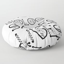 Microbiology Saves Lives Virus Awareness Design Floor Pillow