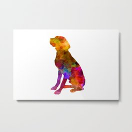 French Pointer in watercolor 2 Metal Print