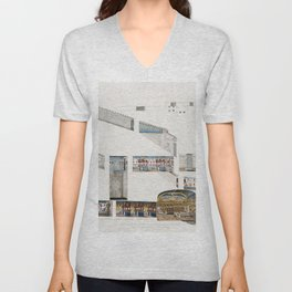 Section of the great Tomb of Psammuthis  from the kings tombs in Thebes by Giovanni Battista Belzoni Unisex V-Neck