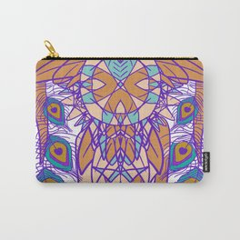 Tribal Peacock Owl Carry-All Pouch