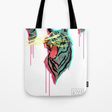 Tiger With F**king Lazers Tote Bag