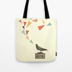 Pigeon Radio Tote Bag