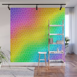 Wiggly Rainbow Gradient Dragon Scale Design! Wall Mural
