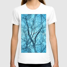 Looking Through Glass Trees (ice blue) T-shirt