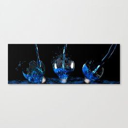 Watered Electricity  Canvas Print