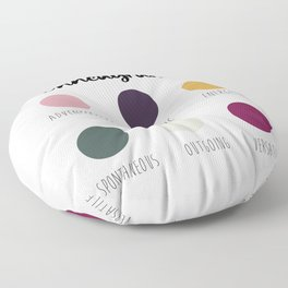 Enneagram 7 Floor Pillow