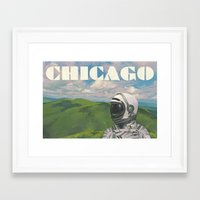 chicago Framed Art Prints featuring Chicago by Scott Listfield