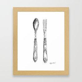 Spoon & Fork Framed Art Print