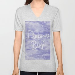 Dream Big Violet Unisex V-Neck